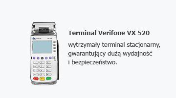 Terminal Verifone VX 520 - wytrzymały terminal stacjonarny, gwarantujący dużą wydajność i bezpieczeństwo.